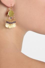 Chan LuuGold-plated lapis lazuli earrings