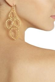 Chan LuuGold-plated Swarovski crystal earrings