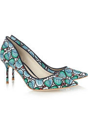 J.Crew + Sophia Webster printed twill pumps