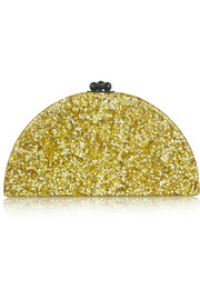 Edie Parker Dottie glittered acrylic box clutch