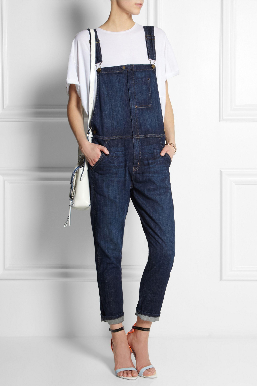 Current/Elliott The Ranchhand stretch-denim overalls