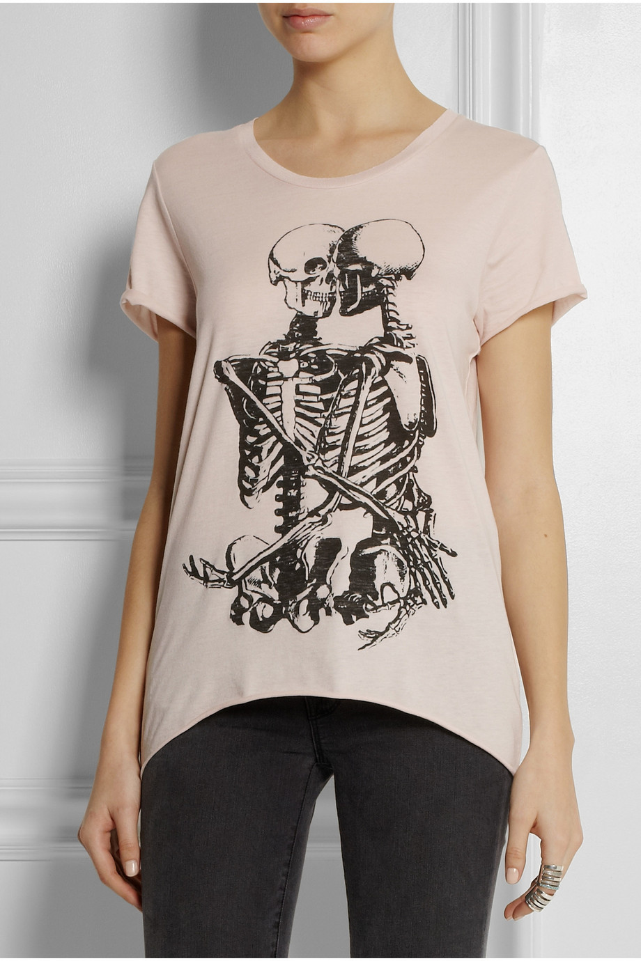 Zoe Karssen Skull Lovers Cotton-Blend Jersey T-Shirt | Fancy Friday - The Cost of Comfort - Cute Loungewear