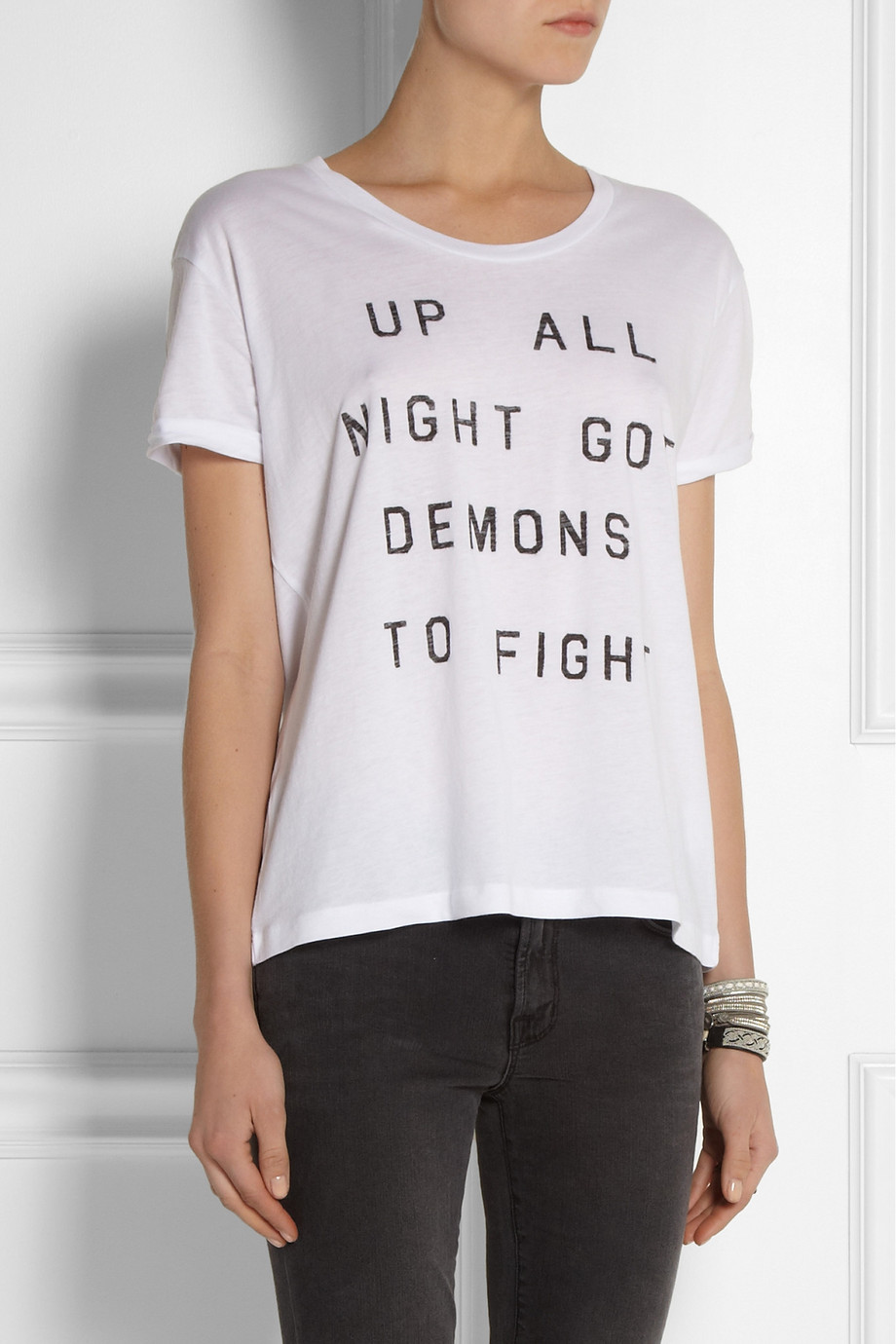 Zoe Karssen Up All Night Cotton And Modal-Blend T-Shirt | Fancy Friday - The Cost of Comfort - Cute Loungewear