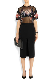 Givenchy Pencil skirt in black stretch-crepe jersey