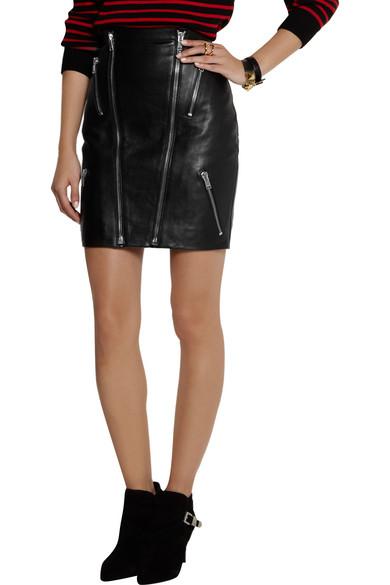 laurent leather mini skirt net a porter