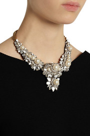 ShouroukApolonia gold-plated, Swarovski crystal and pearl necklace
