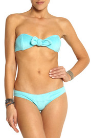 Lisa Marie Fernandez Poppy knot-front stretch-terry bikini