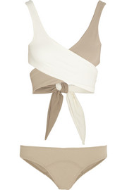 Lisa Marie Fernandez The Marie-Louise two-tone wrap-around bikini