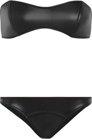 The Natalie rubber neoprene bandeau bikini