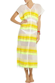 LemLem Bezez striped cotton-blend gauze dress