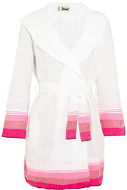 LemLem Bezez striped cotton-blend robe