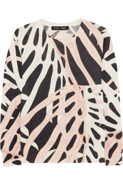 Proenza Schouler Printed silk and cotton-blend sweater