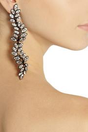 Kenneth Jay LaneBlackened Swarovski crystal clip earrings
