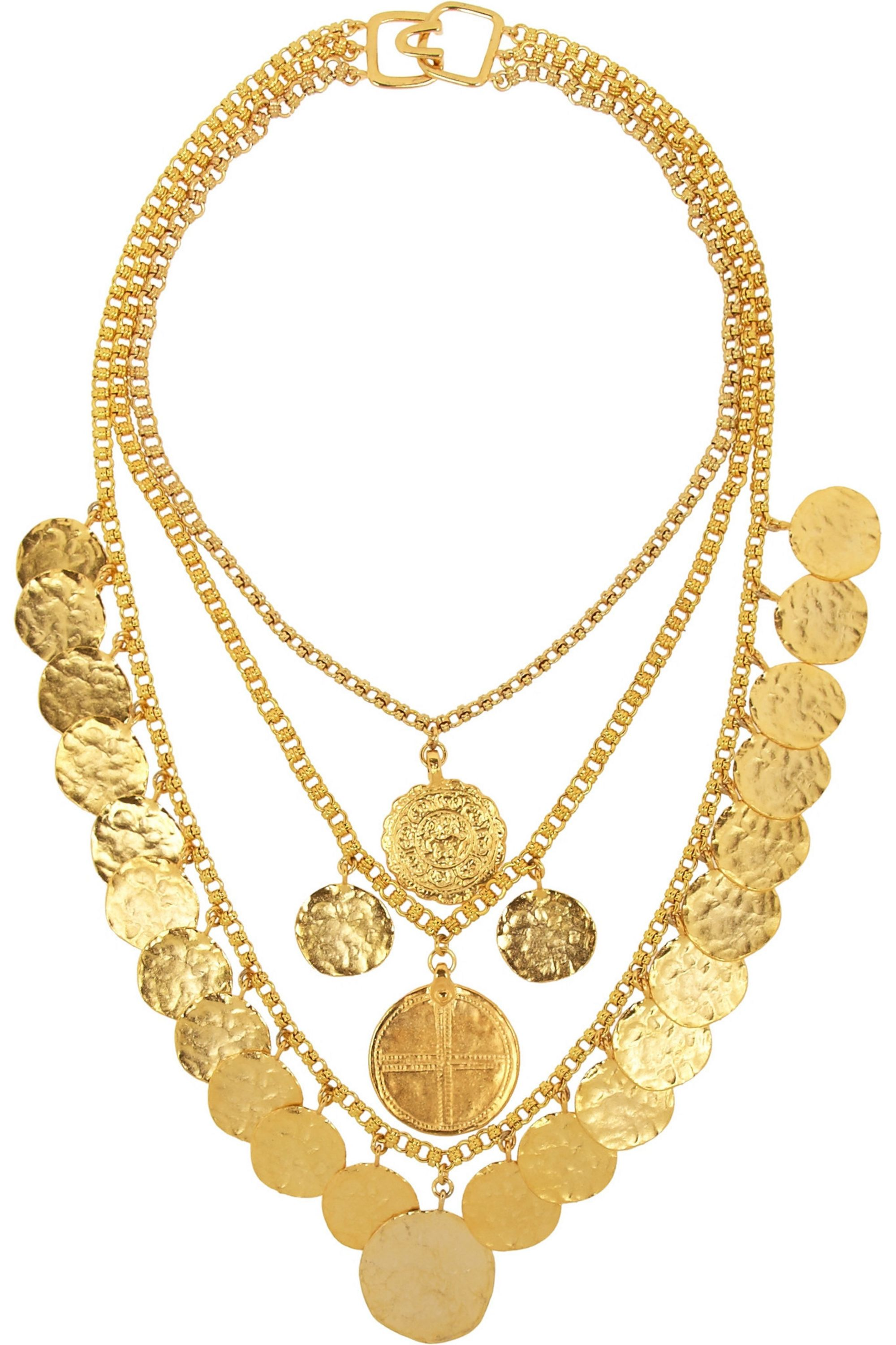 Kenneth Jay Lane Gold-plated coin necklace