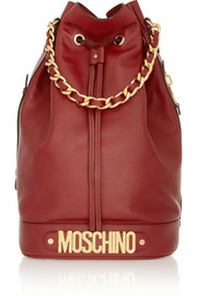 Moschino Oversized leather bucket bag