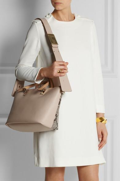 chloe handbags shop online - Chlo�� | Baylee medium python and leather tote | NET-A-PORTER.COM