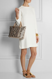 Chloé Baylee medium python and leather tote