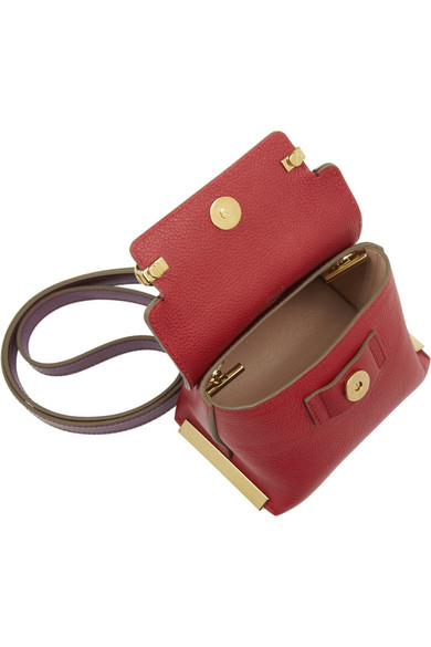 Chlo�� | Clare mini textured-leather shoulder bag | NET-A-PORTER.COM