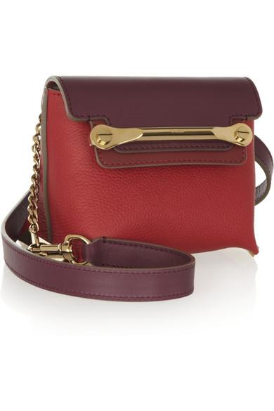 Chlo¨¦   Clare mini textured-leather shoulder bag   NET-A-PORTER.COM