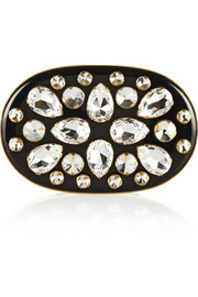 Crystal-embellished resin box clutch