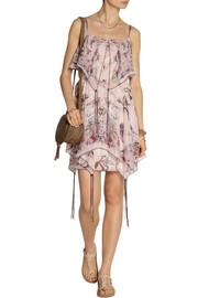 Anna SuiPrinted silk-blend chiffon mini dress