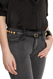 Valentino Etno embellished textured-leather belt