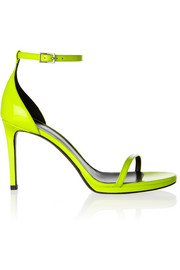 Saint Laurent Neon patent-leather sandals
