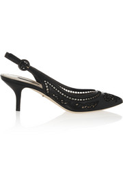Dolce & Gabbana Cutout leather slingback pumps