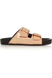 Givenchy Metallic leather sandals
