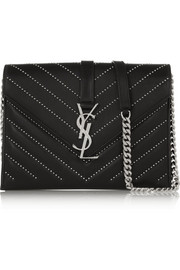 Saint Laurent Monogramme studded quilted leather shoulder bag