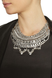 Tom Binns Madame Dumont rhodium-plated Swaorvski crystal necklace