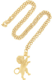 Valentino Leo gold-tone necklace