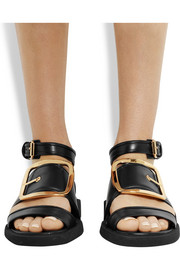 Givenchy Oversized buckle sandals in black leather