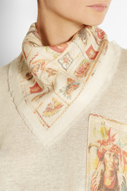 The Elder Statesman + Wear LACMA Printed cashmere scarf