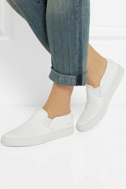 Common Projects Leather slip-on sneakers