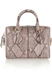 Tod's D-Cube Bauletto mini python and leather tote