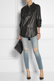 BLK DNM 15 leather shirt