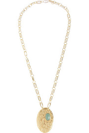 Aurélie Bidermann Marcello gold-dipped turquoise necklace