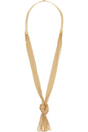 Aurélie Bidermann Miki Dora Miki gold-plated rope necklace
