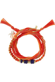 Aurélie Bidermann Takayama cotton and gold-dipped bracelet