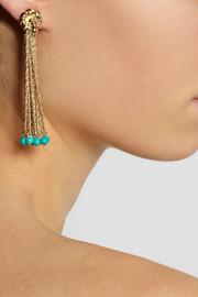 Aurélie BidermannPalazzo gold-plated turquoise clip earrings