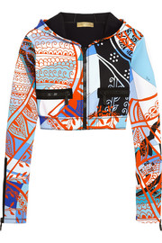 Emilio Pucci Printed neoprene hooded top