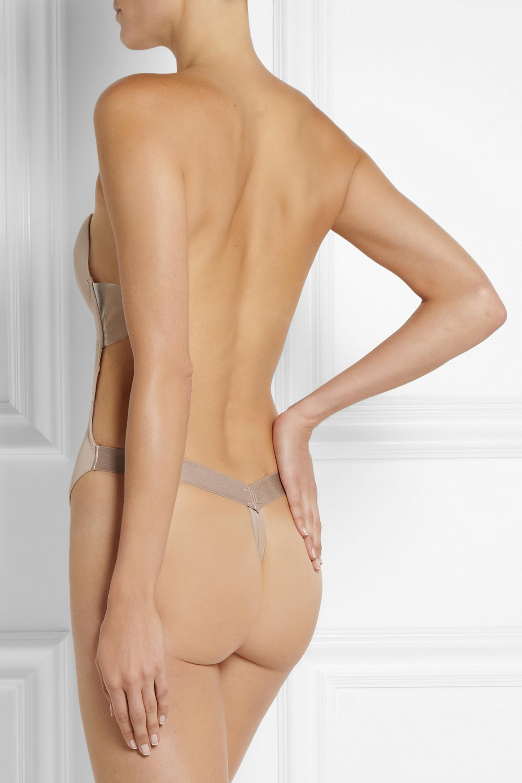 Fashion Forms U-Plunge self-adhesive backless thong bodysuit