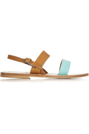 K Jacques St Tropez Leather and suede sandals
