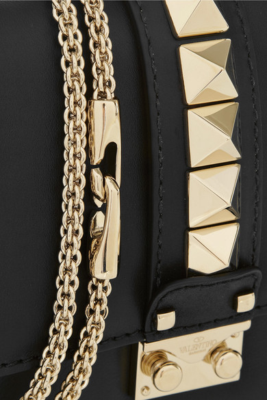 Valentino Lock Leather Medium Shoulder Bag From