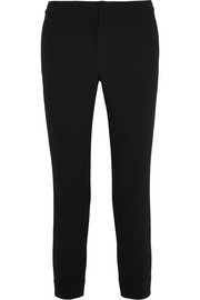 Chloé Cropped crepe slim-leg pants
