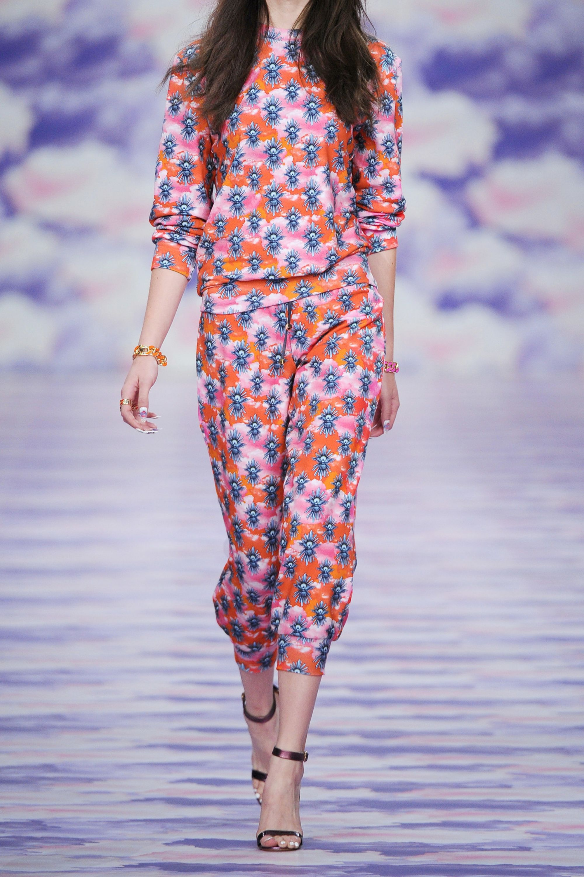 House of Holland Printed cotton-jersey track pants