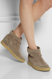 Common Projects Suede wedge ankle boots
