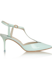 Sophia Webster Ida patent-leather T-bar pumps