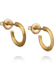 Saint Laurent Gold-plated hoop earrings